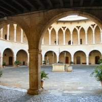 courtyard in the castle