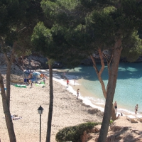 Cala Esmeralda beach in Cala D'Or