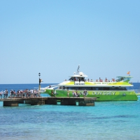 Glass bottom boat cruise from Cala Millor