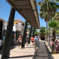 Shopping street in Cala Millor Mallorca