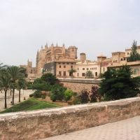 La Seu cathedral and Parc de la Mar