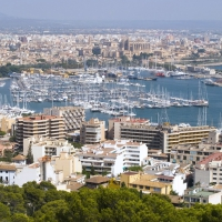 View of Palma de Mallorca harbor