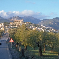 Selva - a town near the Tramuntana mountains